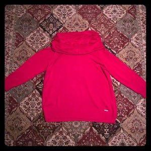 Michael Kors red cowl neck sweater 3X